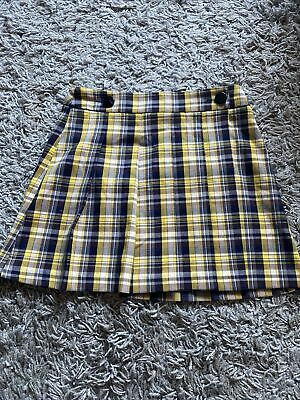 £3 • Buy Topshop Checked Yellow Black Skirt Size 8