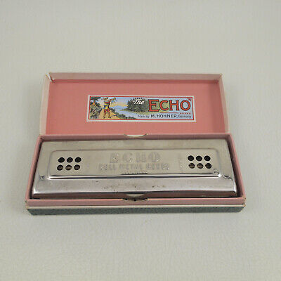$95 • Buy M HOHNER ECHO HARP Double Sided C/G Possibly Unused In Box Antique Vintage