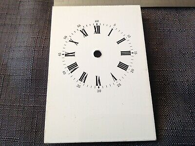 £12.99 • Buy Vintage Metal Carriage Clock Dial Face Spares Overall 85x59mm Dial 48mm