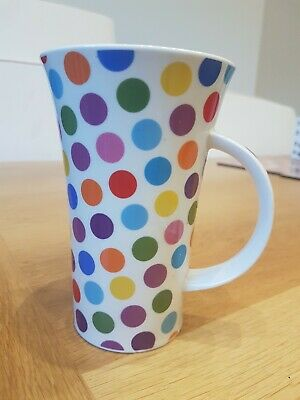 £8 • Buy New Unused Dunoon Rave Large Spotty Mug Design By Sarah Mercer (TINY Chip)