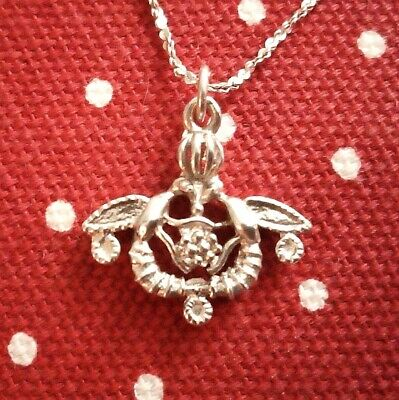 £23.50 • Buy Unique Sterling Silver Handmade Ancient Greek Minoan Bee Pendant Necklace NEW