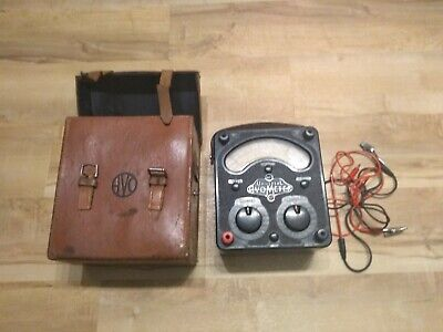£65 • Buy Vintage Universal Avometer Model 8 With Leather Carry Case Tested