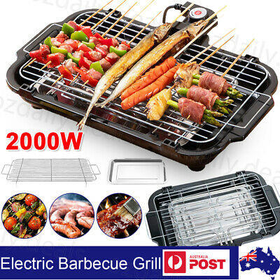 AU29.95 • Buy Portable Electric BBQ Grill Teppanyaki Smokeless Barbeque Pan Hot Plate Table AU