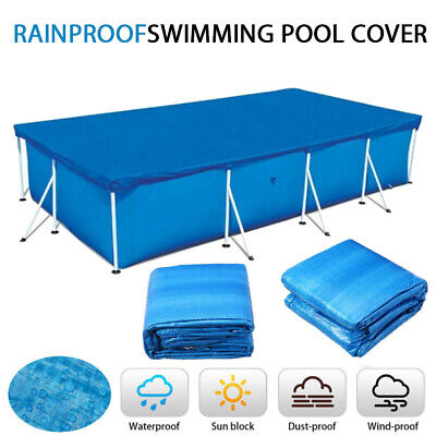 £14.85 • Buy Rectangle Swimming Pool Cover For Outdoor Garden Paddling Family Pool Keep Clean