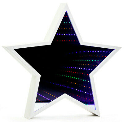 £16.95 • Buy Star Shaped Infinity Mirror Light Tunnel Lighting For Wall Or Free Standing