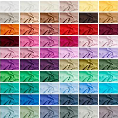 £4.59 • Buy 100% Plain Cotton Fabric Quilting Patchworking 150GSM 60 Colours