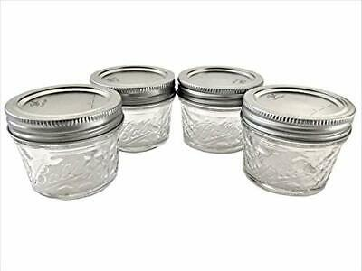 $13.29 • Buy Mason Ball Jelly Jars-4 Oz. Each - Quilted Crystal Style-Set Of 4