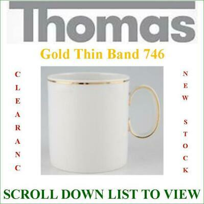£60.50 • Buy Thomas China Medallion THIN GOLD BAND 746 New Stock Clearance SCROLL DOWN LIST