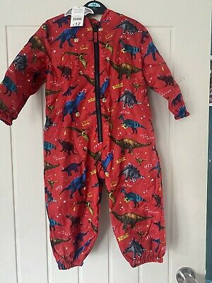 £5 • Buy Boys Red Dinosaur Puddle Suit 18-24 Months