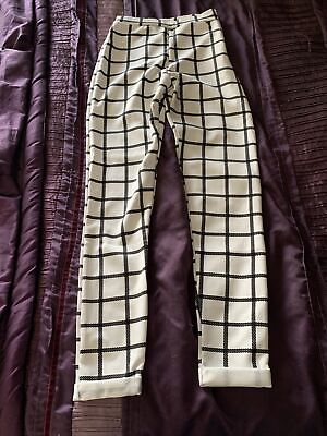 £1.10 • Buy Womens Missguided Straight  Leg Trousers Checked - Size 6