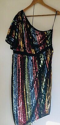 £25 • Buy Sequin 70s Style Off Shoulder Dress / V By Very 16