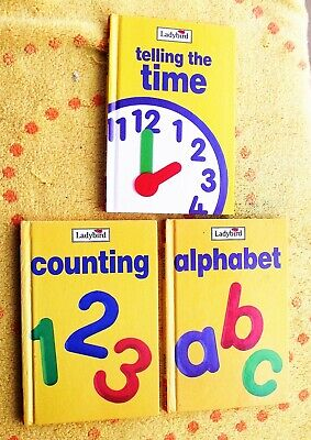 £3.50 • Buy Ladybird - Early Learning X 3 - Telling The Time - Alphabet - Counting