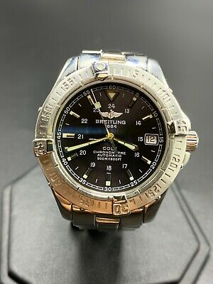 £780.83 • Buy Breitling Colt Men's Black Watch With Stainless Steel Bracelet - A17350