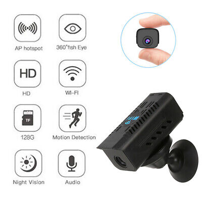 £19.69 • Buy Mini HD 1080P Wireless Wifi Camera IP CCTV Night Vision In/Outdoor Home Security