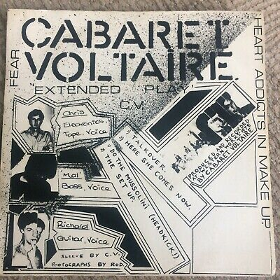 £17.50 • Buy Cabaret Voltaire, Extended Play 7  Vinyl EP In Picture Sleeve, 1980