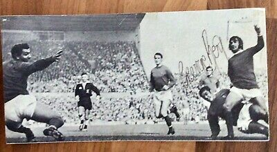 £3.50 • Buy Genuine Signed George Best Football Picture V Ipswich Town