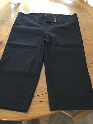 £3.20 • Buy BNWOT MISS SKINNY Black Capri Cropped 3/4 Trousers, Size 14, Fitted With Stretch