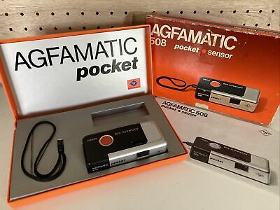 £7.75 • Buy Agfamatic 508 110mm Film Canister Camera Pocket Sensor. Bioxed. Untested