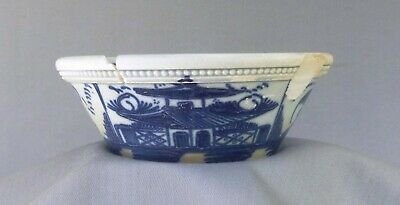 £18 • Buy Blue Painted Pearlware, Small Round Pate Dish, A/F    C.1790