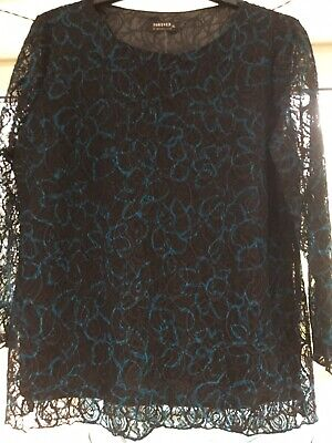 £10 • Buy Forever By Michael Gold XL Gorgeous Lace Top New With Tags