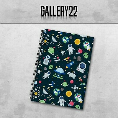 £7.99 • Buy Space Pattern Notebook A5 Gift Stationery Notes Lists Writing Children Doddle