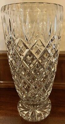 £12.99 • Buy Large And Heavy Lead Cut Crystal Vase 10 Inches Height