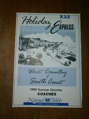 £1.50 • Buy National Welsh Timetable Leaflet-Holiday Express Route X32, 1989