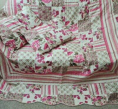 £27.50 • Buy Quilted Patchwork Bedspread King Size With Matching Pillow Case