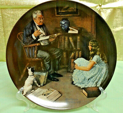 $ CDN12.58 • Buy Knowles Norman Rockwell Collector Plate The Storyteller Heritage Collection 1984