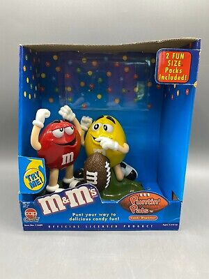 $12.50 • Buy M&M's Puntin' Pals Candy Dispenser Red & Yellow With Football From 2002