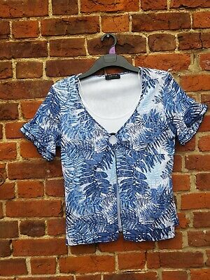 £3.95 • Buy Ladies Floral Summer Top  Forever  By Michael Gold. Size  16 Excellent Condition
