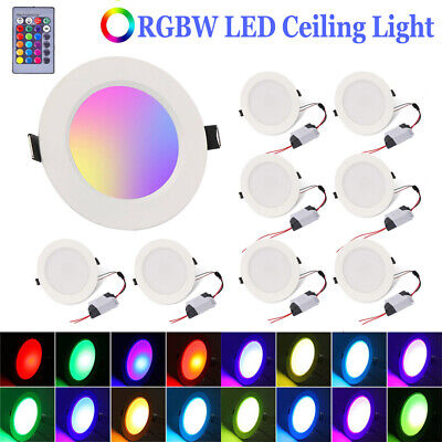 £14.59 • Buy LED RGB Ceiling Lighting Downlight Panel Lamp 16 Colour Changing Remote Control