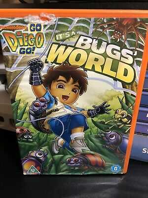 £3.75 • Buy Nickelodeon Go Diego Go It's A Bugs' World DVD Rare Orange Case Free Delivery