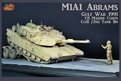 $289 • Buy PRO-BUILT 1/35 M1A1 Abrams US Marines Gulf War Finished Diorama (IN-STOCK)