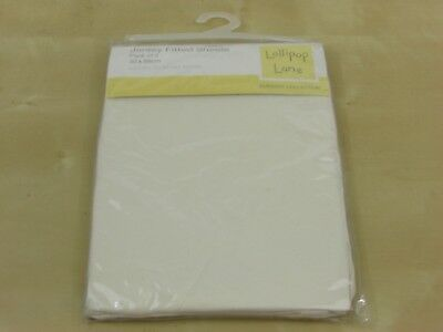£3 • Buy 2 Cream Moses Jersey Fitted Sheets- 30 X 68 Cm - Lollipop Lane - Nursery / Baby