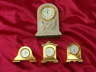 £14 • Buy Collection Of  5  Miniature Brass/glass Collectable Clocks
