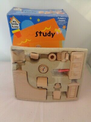 £4.99 • Buy New Boxed Elc My Little Home Wooden Dolls House Study
