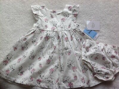 £7.50 • Buy New Disney Bambi Baby Girl Dress And Knickers 6-9 Months