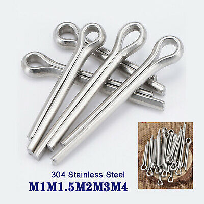 $3.45 • Buy M1M1.5M2M3M4 Split-Pins / Cotter Split Pins - A2 Stainless Steel - Clevis Pin