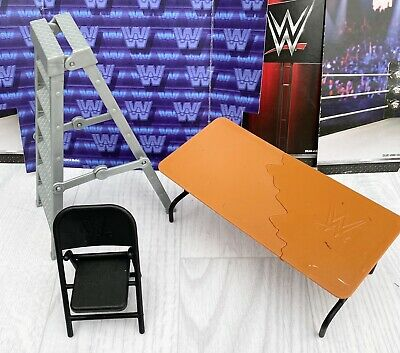 £12.49 • Buy WWE FIGURE Accessories TABLE LADDER Chair  Weapons Mini Kid Toy Play WRESTLING