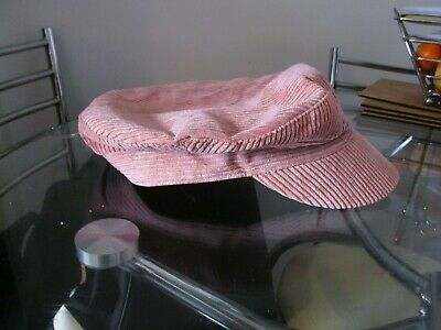 £1.99 • Buy L@@k Corduroy Flat Cap Style In Dusky Pink Size  M.56cm Brand New With Tags