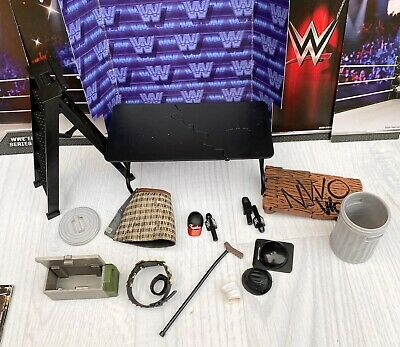 £17.96 • Buy WWE FIGURE Accessories TABLE LADDER Kid Toy Play WRESTLING Trash Box Bell Mic