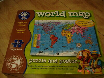 £5.50 • Buy Orchard Toys World Map 150 Piece Puzzle Complete