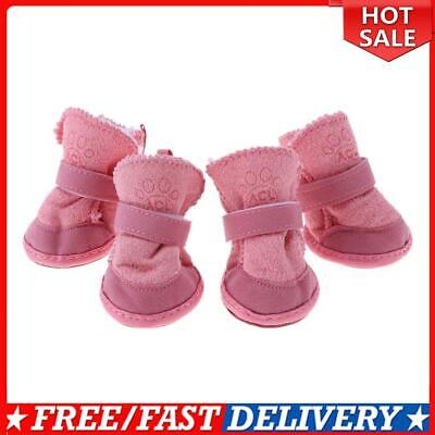 £3.47 • Buy Pet Puppy Thick Snow Boots Dog Plush Warm Shoes Dog Accessories(Pink)(XS)