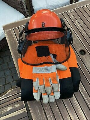 £25 • Buy Rocwood Class 1 Chainsaw Trousers & Helmet With Vonhaus Gloves