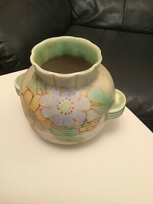 £26 • Buy Crown Devon Green, With Flowers, Vase/Bowl. Excellent Condition