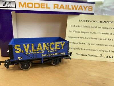 £23 • Buy Dapol Limited Edition  S. V. Lancey Bitterne Park Southampton Wessex Wagons Coal