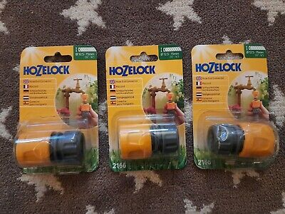 £7.99 • Buy 3 X Hozelock 2166 Hose End Connector 12.5mm - 15mm 12.5-15mm