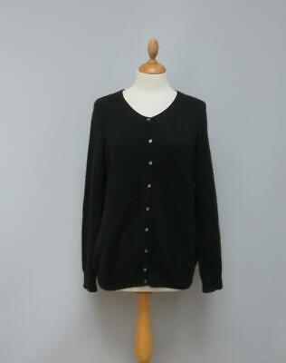 £34.99 • Buy M & S Collection 100% Pure Cashmere Black Crew Neck Cardigan 16