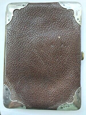 £9.50 • Buy Vintage Leather And Silver Cigarette Case